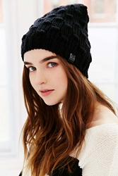 Bickley Mitchell Bickley And Mitchell Leather Patch Beanie Black