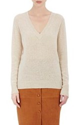 Barneys New York Women's Cashmere V Neck Sweater White