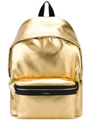 Saint Laurent 'Hunting' Backpack Metallic