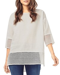 Phase Eight Lucie Lace Trim Linen Blouse White