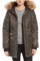 Steve Madden Women's Parka With Faux Fur