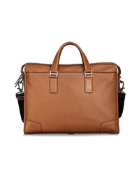 Tumi Irving Slim Camel Coloured Leather Day Bag