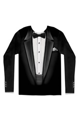 Faux Real 'Black Tuxedo' Novelty Graphic T Shirt