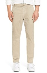 James Perse Men's 'Modern' Slim Fit Garment Dyed Chinos Sandstorm Pigment
