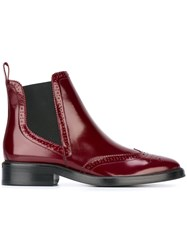 Burberry 'Bactonul' Chelsea Boots Red