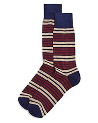 Bloomingdale's The Men's Store At Double Stripe Socks Navy