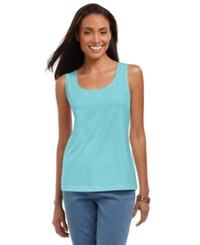 Charter Club Plus Size Tank Top Angel Blue