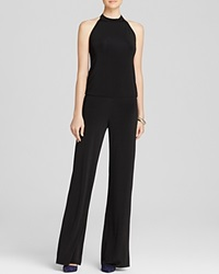 Riller And Fount Jumpsuit Horatio Wide Leg Halter Onyx Slinky