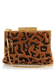Saint Laurent Bijoux Leopard Sequin Shoulder Bag