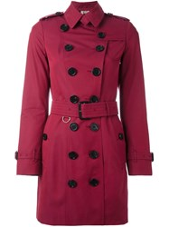 Burberry 'Sandringham' Trench Coat Pink And Purple