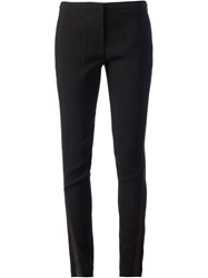 Sharon Wauchob Leather Piped Slim Trousers Black