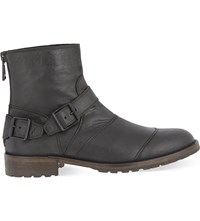 Belstaff Trialmaster Buckle Leather Boots Black