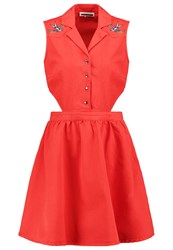 Noisy May Nmpeaches Summer Dress Fiery Red