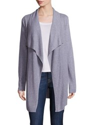 Design History Waffle Knit Open Front Cardigan Riverstone Grey