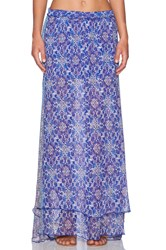 Gypsy 05 Georgette Maxi Skirt Blue