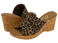 Onex Christina Brown Leopard Women's Wedge Shoes Animal Print