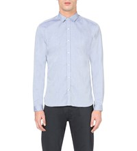 Oliver Spencer Clerkenwell Regular Fit Cotton Shirt Astley Blue