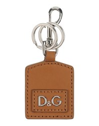Dolce And Gabbana Small Leather Goods Key Rings Men Camel