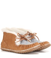 Sorel Out N Abouttm Suede Moccasins Brown