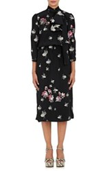 Marc Jacobs Women's Scarf Neck Ballerina And Roses Print Jacquard Midi Dress No Color