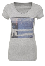 Brunotti Badjar Print Tshirt Light Grey Melange