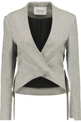 Derek Lam 10 Crosby By Cropped Tweed Jacket Gray