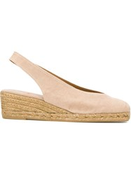 Castaner Castaner Sling Back Closed Toe Espadrilles Nude And Neutrals