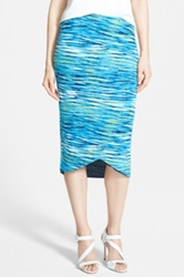 Trouve Pointed Hem Tube Skirt Blue