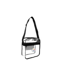 Little Earth Pittsburgh Steelers Carryall Bag Clear