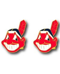 Aminco Cleveland Indians Logo Post Earrings Team Color