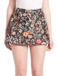 Red Valentino Floral Jacquard Skort Fancy Flower