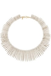 Kenneth Jay Lane Resin Necklace White