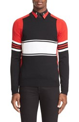 Givenchy Men's Colorblock Stripe Wool Sweater