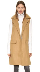 J.O.A. Sleeveless One Button Coat Khaki