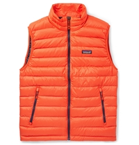Patagonia Down Quilted Dwr Recycled Lightweight Gilet Red