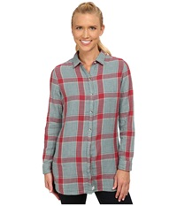Woolrich Caldera Double Cloth Tunic Poppy Women's Blouse Red