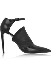Balenciaga Cutout Leather Pumps