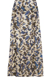 Michael Van Der Ham Judith Fil Coupe Silk Blend Maxi Skirt