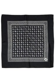 Dolce And Gabbana Cactus Printed Silk Twill Bandana