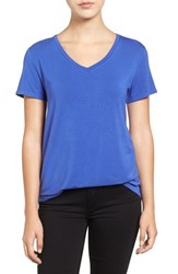 Halogenr Women's Halogen Modal Jersey V Neck Tee Purple Grand