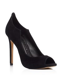 Dolce Vita Isabel High Back Peep Toe High Heel Pumps Black
