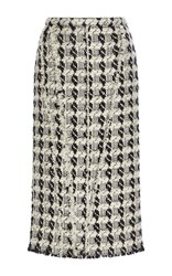 Rochas Tweed Wool Pencil Skirt Multi