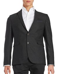 Strellson Wool Two Button Jacket Charcoal