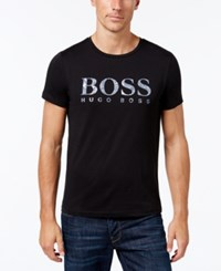Hugo Boss Green Men's Graphic Print T Shirt Black
