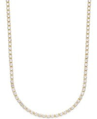 Giani Bernini Cubic Zirconia Tennis Necklace In Gold Plated Sterling Silver Yellow Gold