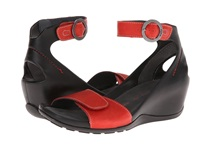 Wolky Ka Red Leather Women's Shoes