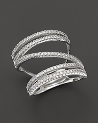 Bloomingdale's Diamond Open Multiband Ring In 14K White Gold .60 Ct. T.W.