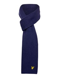 Lyle And Scott Classic Ribbed Scarf Navy