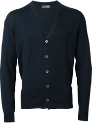 Drumohr V Neck Cardigan Blue