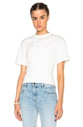 Alexander Wang Draped Bustier Tee In White
